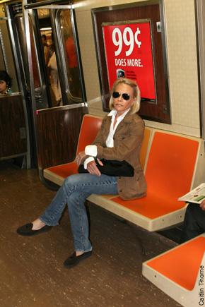 Photo:nypost.com - Ruth Madoff using public subway!